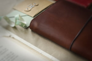 real top grain leather hand made book cover by helen mclean