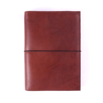A5 Discovery Cognac Elastic leather cover