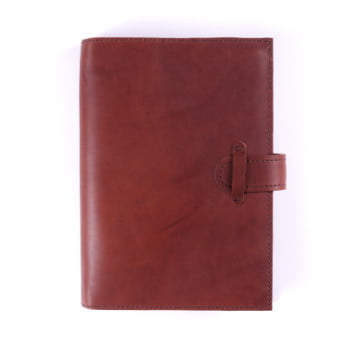 A5 Discovery Cognac Tab leather cover