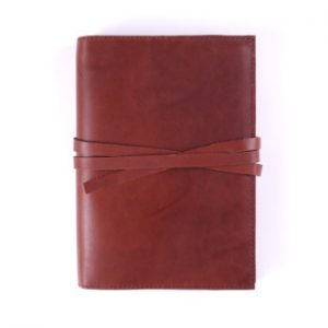 A5 Classic – Tie Closure in Cognac Leather