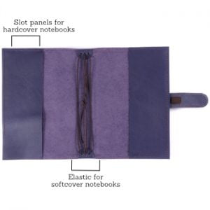 A5 Classic – Tab Closure in Indigo Leather Cover