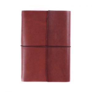 A5 Wrap – Elastic Closure in Cognac Leather Cover