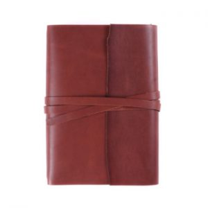 A5 Wrap – Tie Closure in Cognac Leather Cover