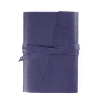 A5 Discovery Wrap Indigo Tie leather cover