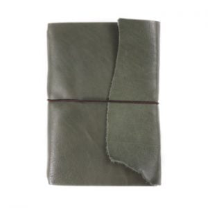 A5 Wrap – Elastic Closure in Moss Leather Cover