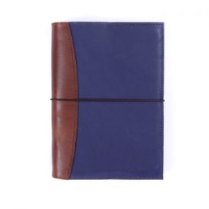 A5 Deluxe – Elastic Closure in Indigo & Cognac Journal Cover