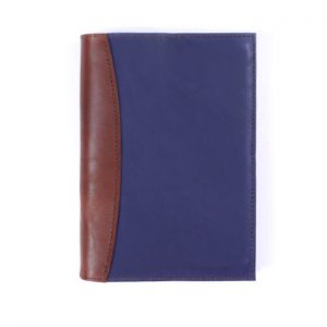A5 Deluxe – Indigo & Cognac Leather Cover