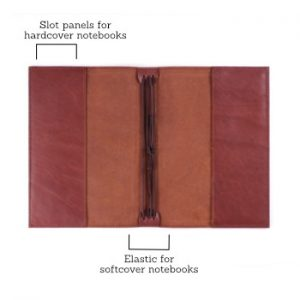 A6 Classic – Cognac Leather Cover