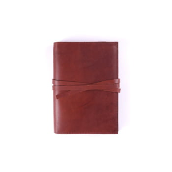 A6 Discovery Cognac Tie leather cover
