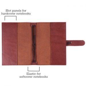 B6 Classic – Tab Closure in Cognac Leather Cover