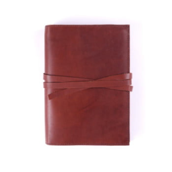 B6 Discovery Cognac Tie leather cover