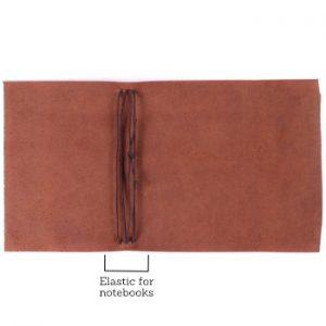 B6 Wrap – Elastic Closure in Cognac Leather Cover
