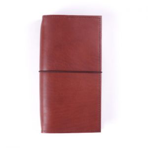 Slim Classic – Elastic Closure in Cognac Leather Cover