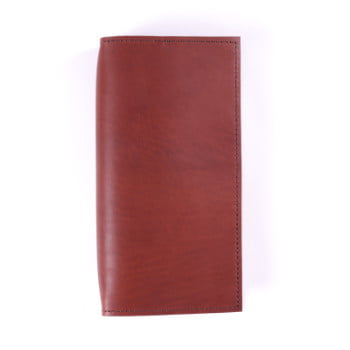 Slim Discovery Cognac leather cover