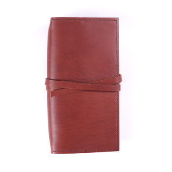 Slim Discovery Cognac Tie leather cover