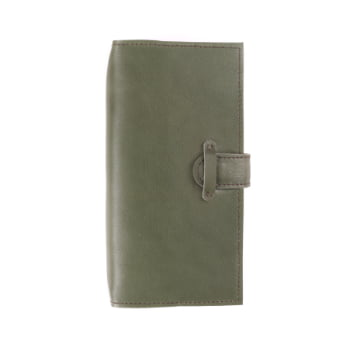 Slim Discovery Moss Tab leather cover