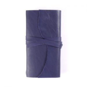 Slim Wrap – Tie Closure in Indigo Leather Cover