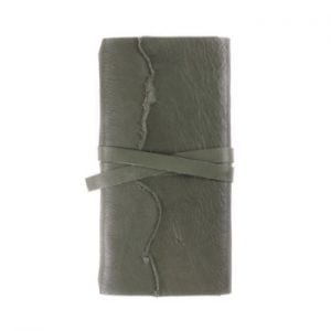 Slim Wrap – Tie Closure in Moss Leather Cover