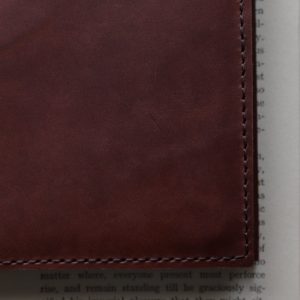 A6 Classic – Tie Closure in Cognac Leather Cover