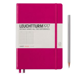 Leuchtturm1917 Hardcover 249 pg – Ruled Lined A5 Notebook – Berry