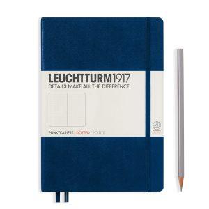 Leuchtturm1917 Hardcover 249 pg – Dot Grid A5 Notebook – Navy
