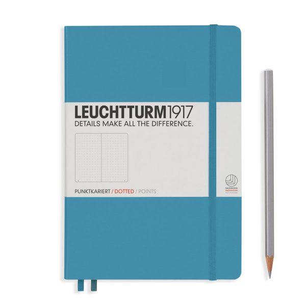 Nordic Blue Leuchtturm Notebook Medium A5 Hardcover Dot Grid