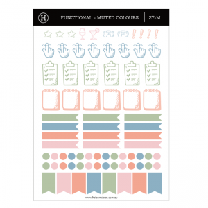 Functional & Decorative Sticker Pack (3) – Muted Colours