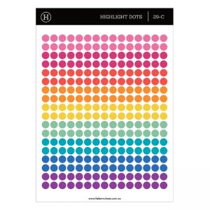 Sticker Highlight Dots – Translucent 5mm