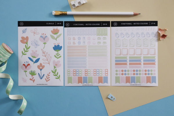 functional planner stickers pack