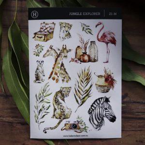 Jungle Explorer – Sticker Sheet