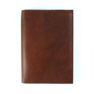 A5 Classic – Cognac Brown Leather Journal Cover