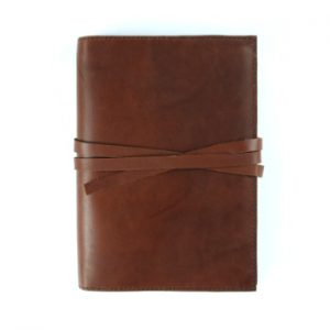 Moleskine Leather Cover – Tie Closure in Cognac