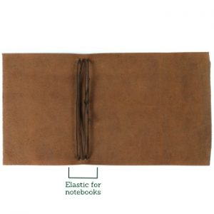 A5 Wrap Leather Journal – Tie Closure in Cognac Brown