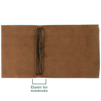 brown leather wrap cover with elastic to suit A5 open