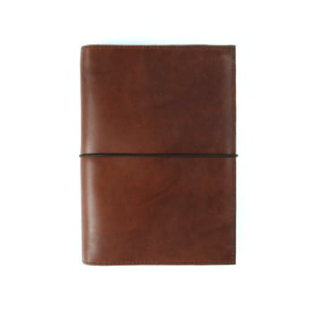 brown leather cover with elastic to suit B6 front