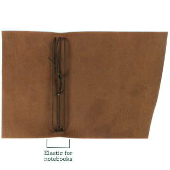 brown leather wrap cover to suit traveler notebooks open