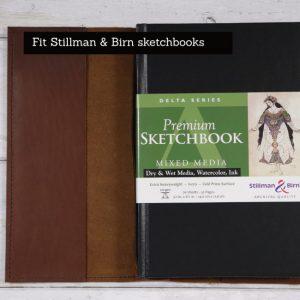 Stillman & Birn Leather Cover – Elastic Closure in Cognac