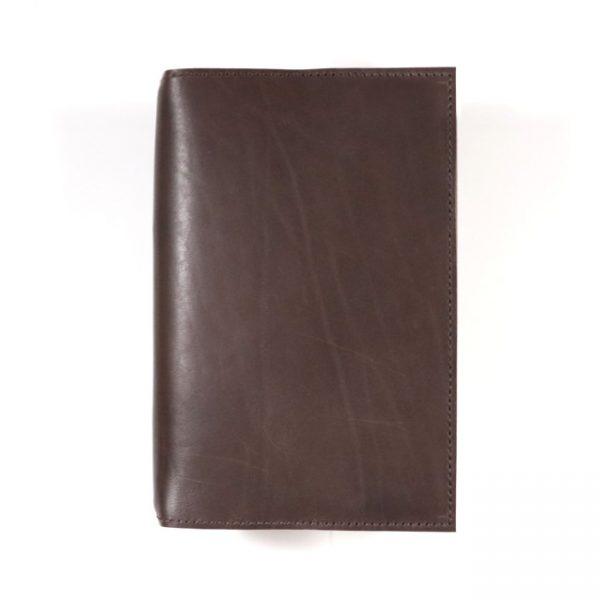 espresso leather Moleskine notebook cover