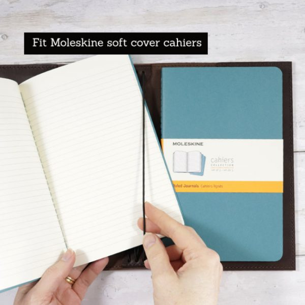 espresso leather moleskine soft cover cahier