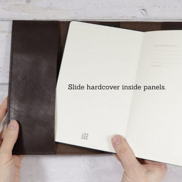 espresso leather notebook hard cover usage