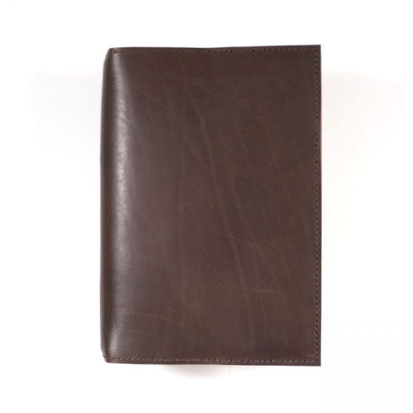 espresso leather notebook cover A5