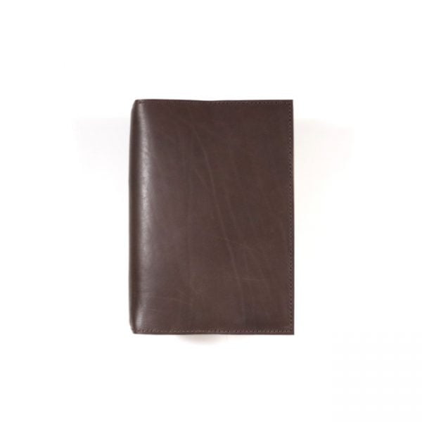 espresso leather notebook cover A6