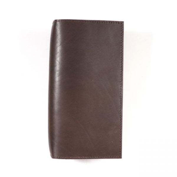 espresso leather notebook cover slim