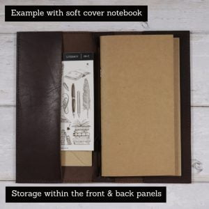 A5 Classic – Elastic Closure in Espresso Leather Cover