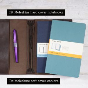 Moleskine Leather Cover – Elastic Closure in Dark Mocha