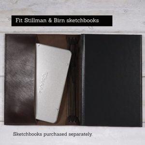 Stillman & Birn Leather Cover – Elastic Closure in Espresso