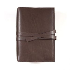 Moleskine Leather Cover – Tie Closure in Dark Mocha