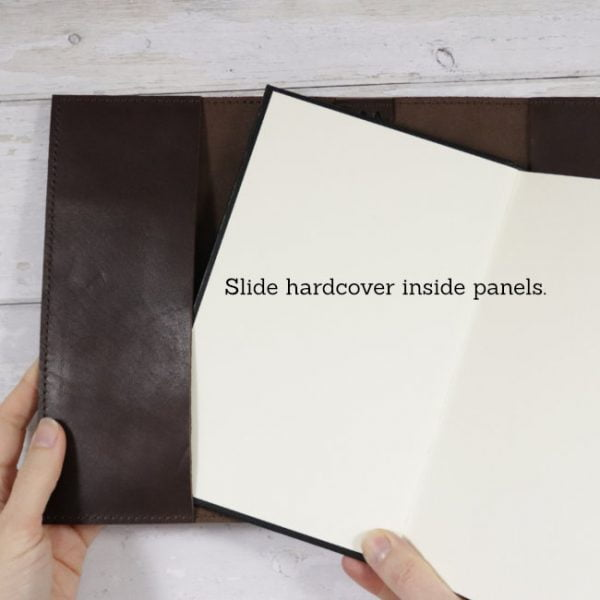 espresso leather notebook cover hardcover