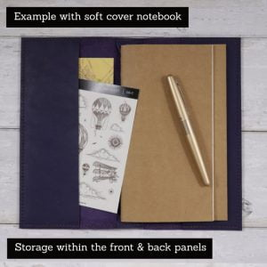A6 Classic – Indigo Leather Cover