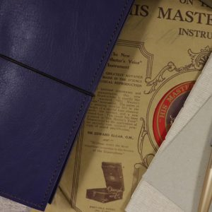 A5 Classic – Elastic Closure in Indigo Leather Cover